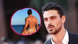 24 Jahre später: Michele Morrone stellt Vater-Sohn-Bild nach