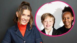 Brad Pitts Töchter sind mit Millie Bobby Brown befreundet