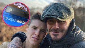 Cruz Beckham schenkt Papa David echt einen Hodensack-Trimmer