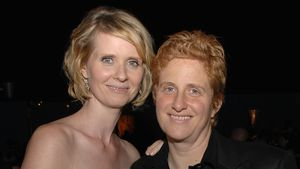 Cynthia Nixon und Christine Marinoni in Los Angeles 2008