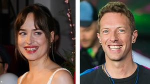 Seltene Fotos: Hier turteln Dakota Johnson und Chris Martin!