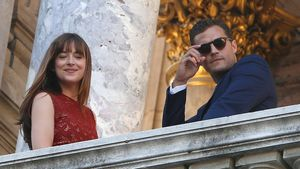 "Dakota Johnson und Jamie Dornan beim ""Fifty Shades Darker""-Dreh in der ""Opera Garnier"" in Paris"