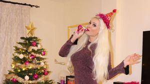Sie bleibt sich treu: So feiert die Katze ins neue Jahr!
