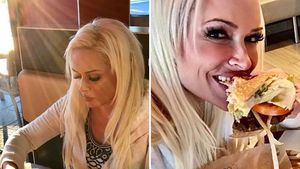 Daniela Katzenberger isst Fastfood