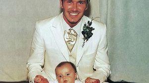 David und Brooklyn Beckham 1999