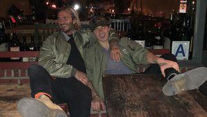 Süß! Family-Reunion bei David Beckham und Sohn Brooklyn