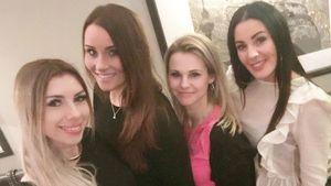 Die Bachelor-Girls Janika, Lisa, Sabrina und Silvana