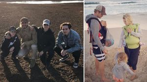 Die Beckhams und die Familie von Chris Hemsworth