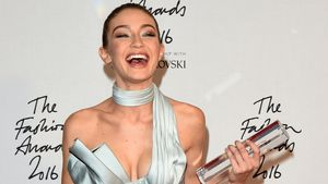 "Die Gewinnerin des ""International Model of the Year Award"" Gigi Hadid"
