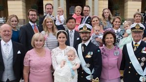 Die schwedische Royal-Familie am Tag der Taufe von Prinz Alexander