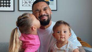 Allein mit den Kids: Dominic Harrison manchmal überfordet