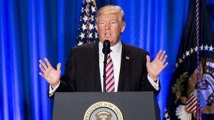 Donald Trump bei einer Rede in Philadelphia 2017