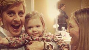 """Süß! Drew Barrymore mit Baby Olive (1) bei """"Ellen"""""""