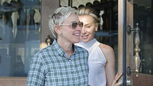 Ellen DeGeneres und Portia de Rossi beim Verlassen eines Restaurants in West Hollywood