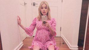 Süßes Kleidchen: Emma Robert präsentiert ihren Babybauch