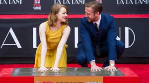 Emma Stone und Ryan Gosling bei der Hand And Footprint Ceremony