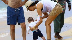 Simon Cowells Sohn Eric macht seine 1. Schritte