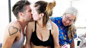 Eva Amurri mit ihrem Mann Kyle Martino und dem neugeborenen Sohn Major