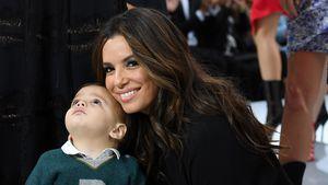 Fashion-Week-Geknuddel: Eva Longoria kuschelt ihren Sohn