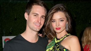 Evan Spiegel und Miranda Kerr auf der Republic Records Grammy Celebration Party 2016