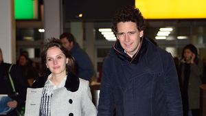 Felicity Jones und Charles Guard am Flughafen in New York