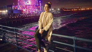Fiona Erdmann am Santa Monica Pier