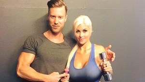 Fitnesstrainer Dany Petric und Sophia Wollersheim
