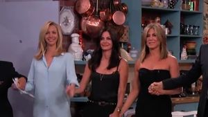 Jennifer Aniston, Courteney Cox, Jimmy Kimmel und Lisa Kudrow
