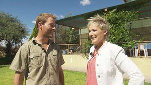 Gerald und Inka Bause auf dessen Hof in Namibia