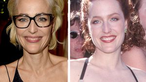 "Kaum erkannt! ""Akte X""-Gillian Anderson superschlank & blond"
