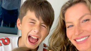 Süß! Gisele Bünchen postet seltenes Selfie mit ihren Kids
