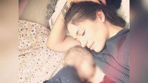 Tessa Bergmeier mit Tochter Lucy