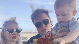 Selten: Elon Musk postet Foto mit Grimes und Sohn X Æ A-XII