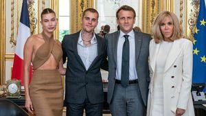 Treffen mit Präsident Macron: Fashion-Fail bei den Biebers?