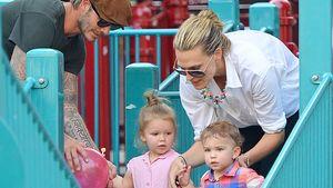 David Beckham, Harper Seven Beckham und Molly Sims