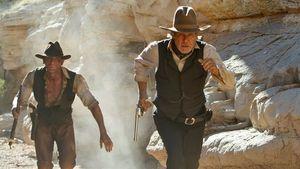 Daniel Craig und Harrison Ford