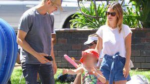 Gezwungener Spaß? Rachel Bilson zusammen mit Ex und Tochter!