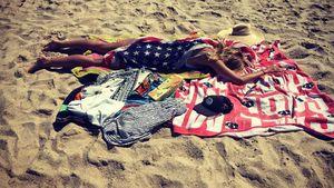 Heidi Klum am Strand