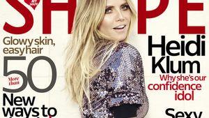 "Heidi Klum auf dem Cover von ""Shape"""