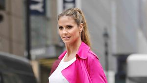 Heidi Klum bei einem Fotoshooting in New York