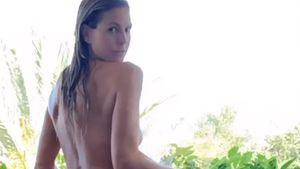Vorsicht, heiß! Heidi Klum gießt oben ohne die Blumen