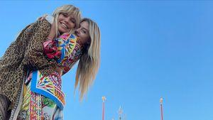 Schöne Touris: Heidi und Leni Klum machen Venedig unsicher