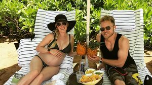 8. Monat: Heidi Montag postet nackten Baby-Bauch im Bikini!