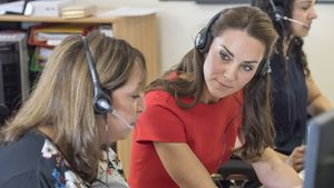 Herzogin Kate bei einem Besuch der Telefonseelsorge in London
