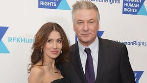 Hilaria Baldwin mit Baby Carmen auf Fashion Week