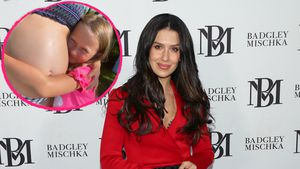 Süß: Tochter Carmen knuddelt Hilaria Baldwins Babybauch