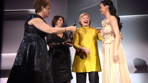 "Hillary Clinton und Katy Perry beim ""UNICEF Snowflake Ball"""