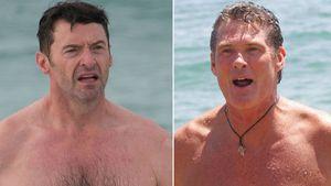 """Baywatch""-Lookalike: Hier macht Hugh Jackman den Hasselhoff"