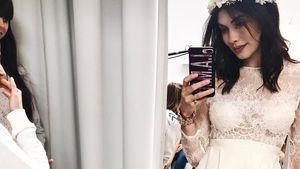 Ira Meindl in einem Hochzeitskleid