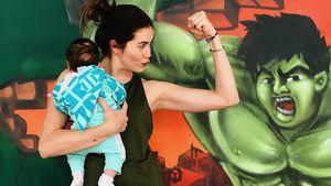 Süßer Trainingspartner: Ira Meindl nimmt Baby mit ins Gym!